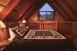 loft of 2 bed cabin