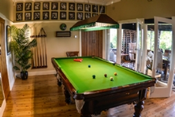 Chatelaine billiard room overlooking Jamison Valle