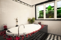 The Gatsby master bathroom