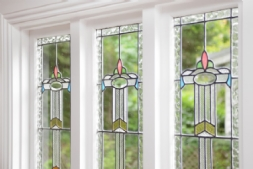 Antique stained-glass windows