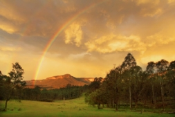 Rainbow over Katoomba Cliffline