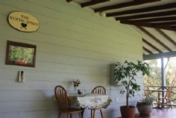 Dining on the farmhouse verandah
