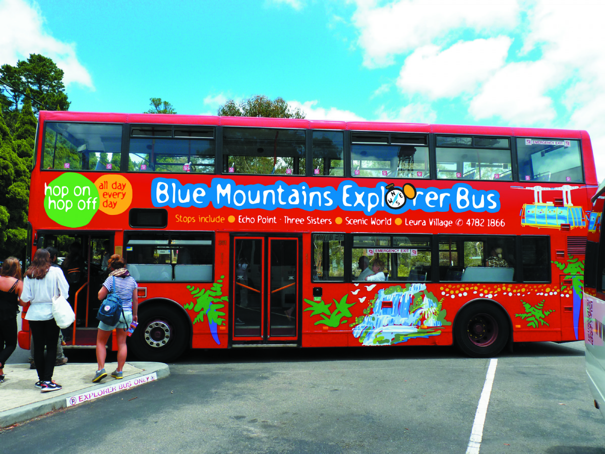 how to go to blue mountain by train katoomba
