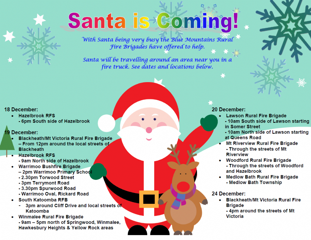Santa Claus Is Coming To The Blue Mountains Blue