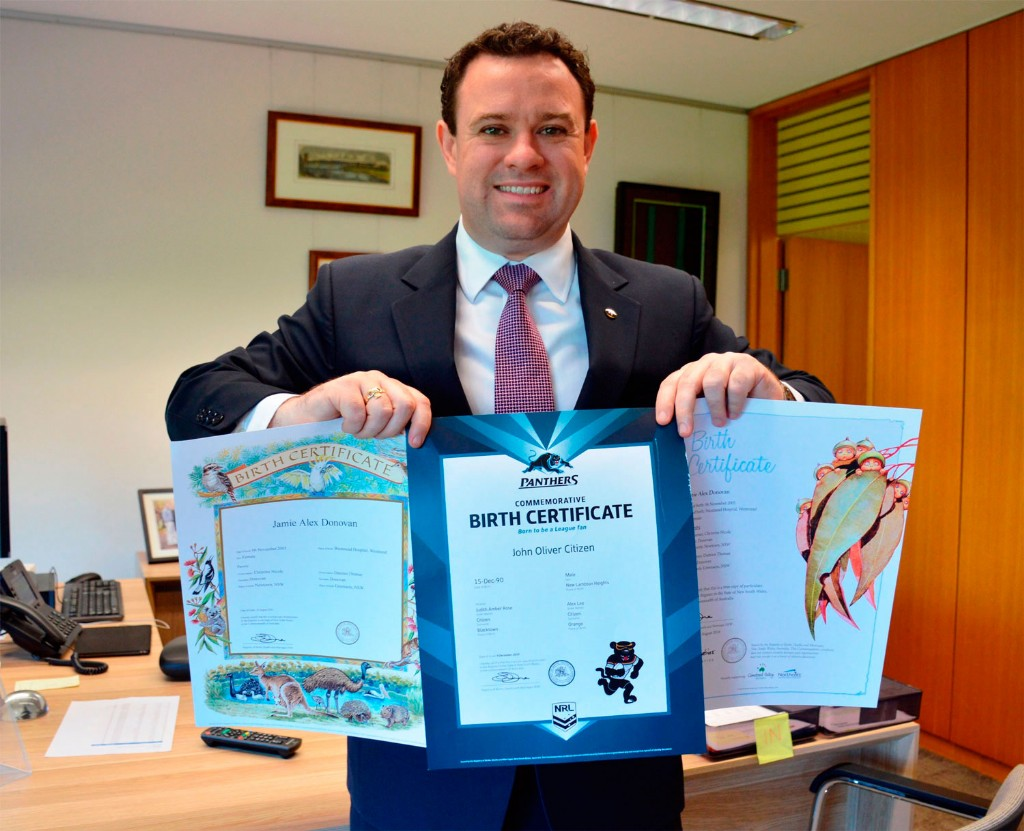 Iconic Character Birth Certificates Now Available | Blue Mountains