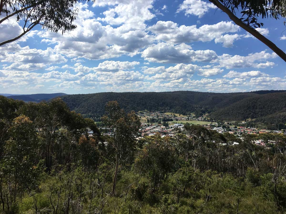 Lithgow from Bracey's Lookout
