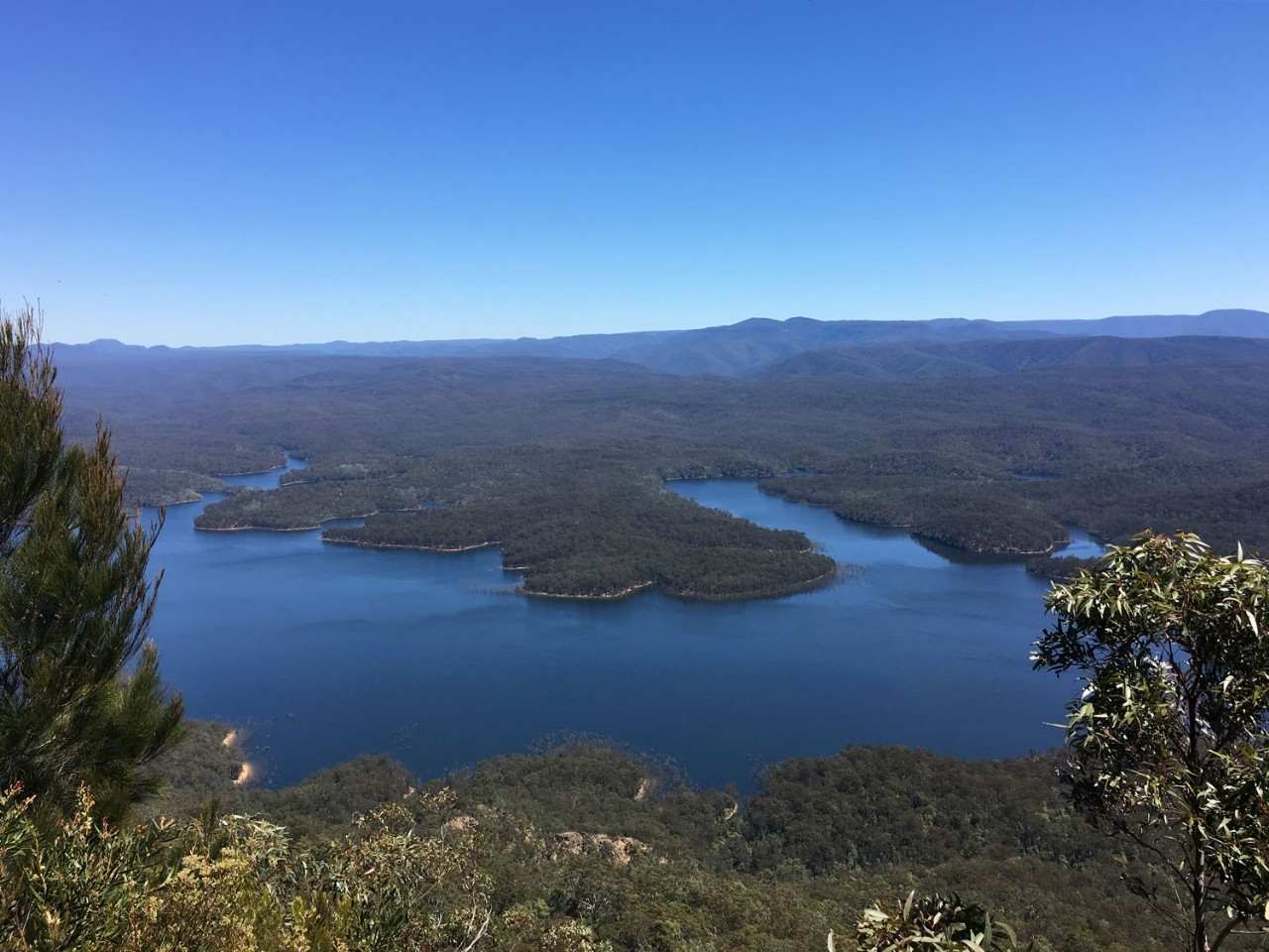 View over Lake Burragarong