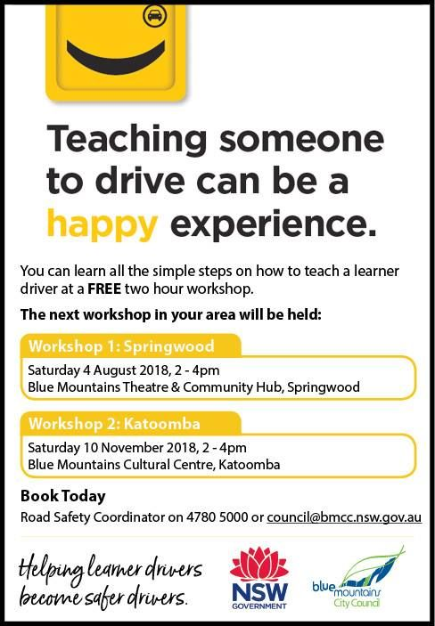 Free 2 Hour Workshops for Learner Driver Supervisors