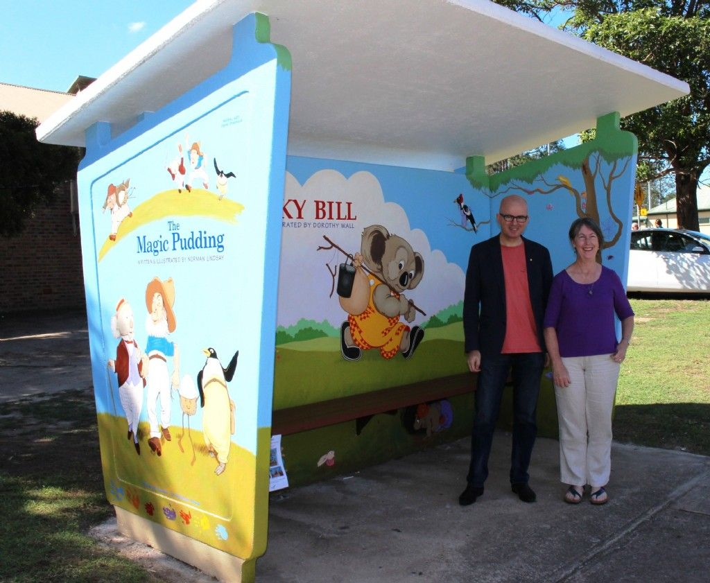 Council Celebrates Restoration of Iconic Blinky Bill Bus Stop Magic