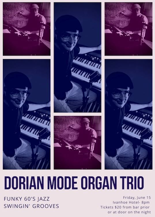 Dorian Mode Organ Trio Bring Funky 60s Jazz Swingin' Grooves to the Ivanhoe Hotel
