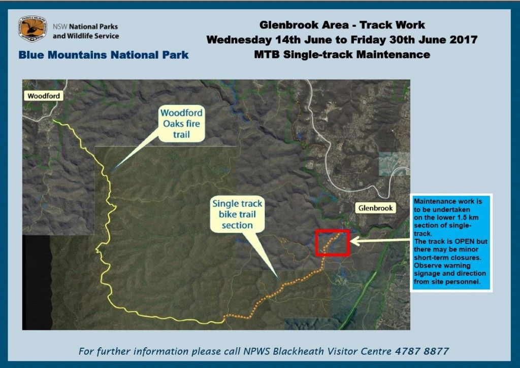 Woodford to Glenbrook Mountain Bike Trail, Blue Mountains National Park – Maintenance Work