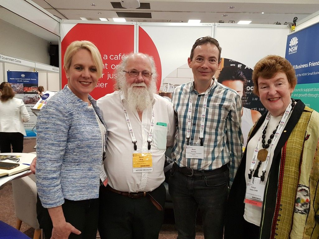 Councillor Ring Meets With the Small Business Commissioner at the LGNSW Conference