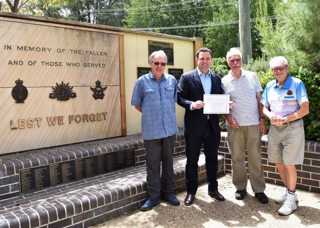New Memorial Plaque For Glenbrook