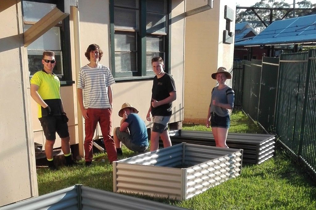 Young People Growing for Charity in Community Garden