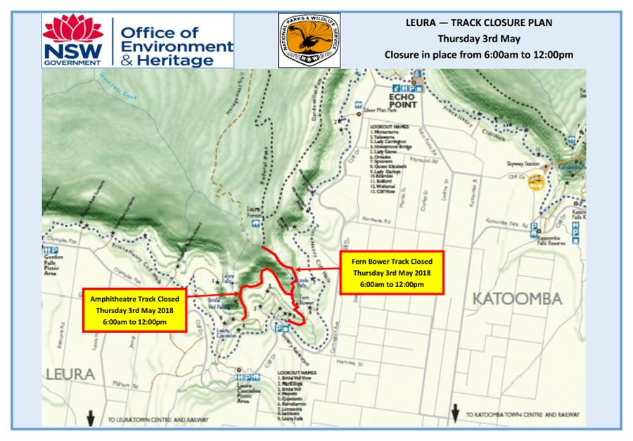 Urgent Notification – Helicopter Operation – Fern Bower Track Leura – Thursday 3rd May 2018