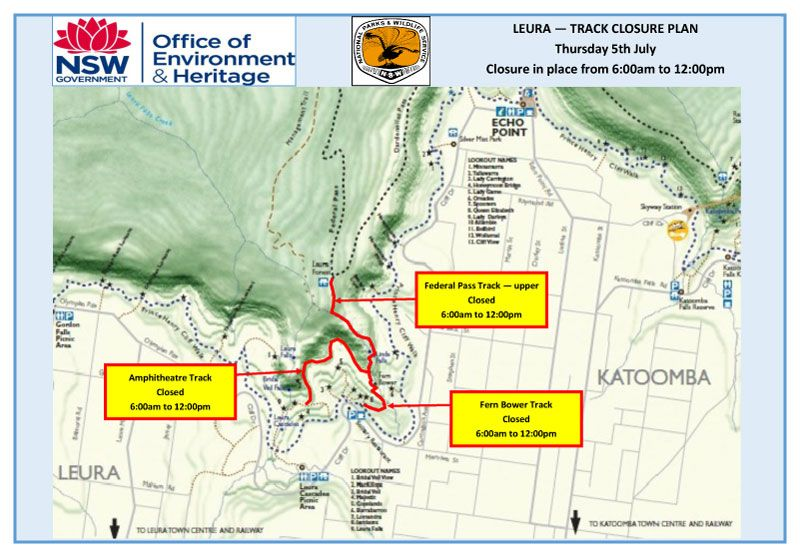 Notification - Track Closures Leura Forest - Thursday 5th July