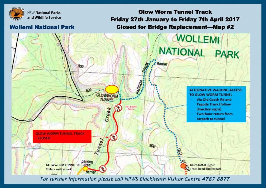 Glow Worm Track, Wollemi National Park - Temporary Closure