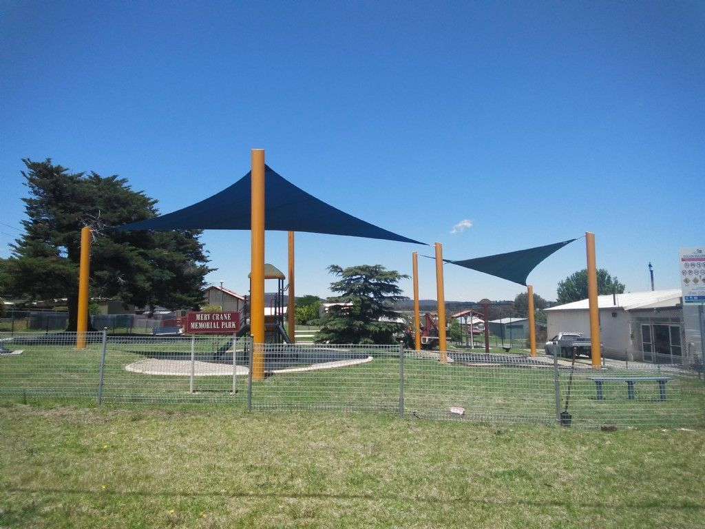Shade Sails at Merv Crane Park, Cullen Bullen