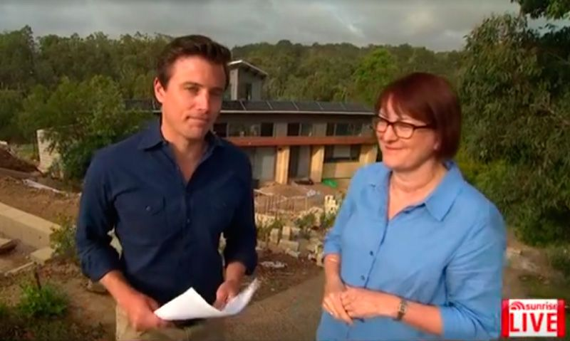 Channel 7 Sunrise in Winmalee – Urging Community to be Bushfire Ready