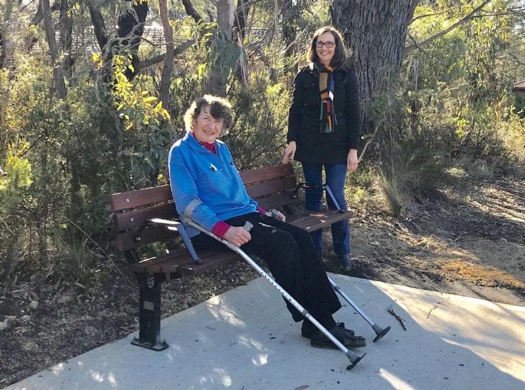Take A Seat: Council and Community Install New Bus Stop Seat