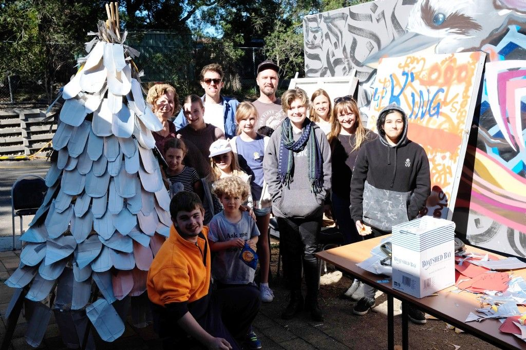 Silver Linings for Community Waste to Art Tetra Town Tipi