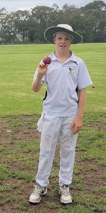 Springwood Cricket Club's under 13's Pat Bourke Scores a Hattrick