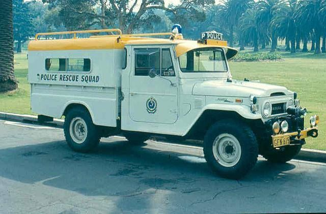 Police Vehicles Preserved For History Blue Mountains