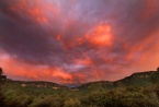 Sunset clouds across the Megalong