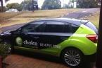 The Choice-Mobile decked out with the new logo