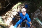 Abseiling into the Plughole Adventure tour