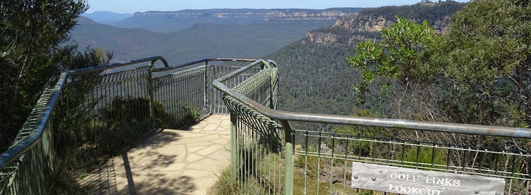 Blue Mountains Bushwalks - Golf Links Lookout Leura