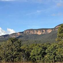 Views of the sandstone cliffs