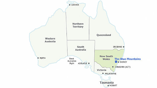 Australia Location Map.Blue Mountains Region Location And Maps