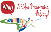 Win 7 day Blue Mountains Holiday courtesy of the Blue Mountains Attractions Group.